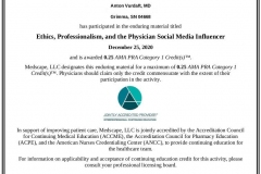 2020/12, Ethics, Professionalism, and the Physician Social Media Influencer (Medscape, online)